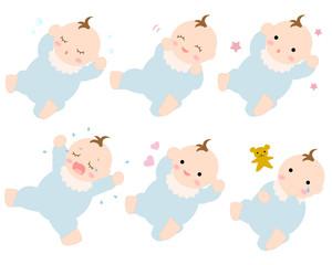 赤ちゃん乳児 表情