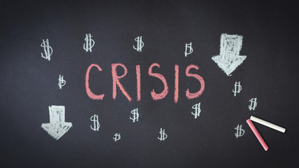 Crisis Chalk Drawing
