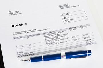 Photo of invoice