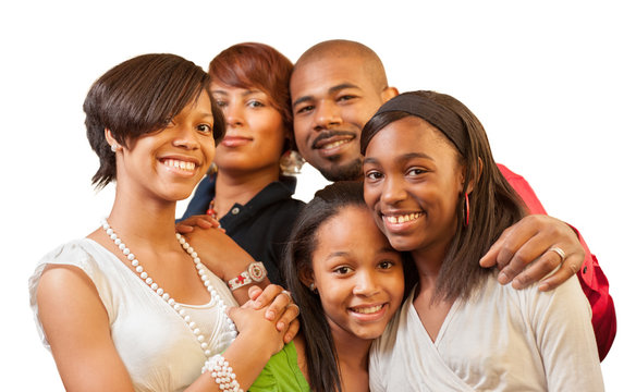 African American family. Focus on children.