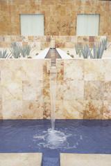 Fountain at resort hotel