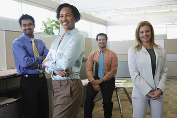 Group of coworkers in office