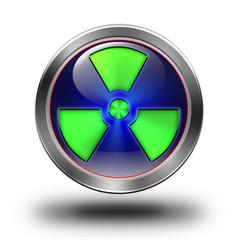 Radioactive glossy icon - fototapety na wymiar