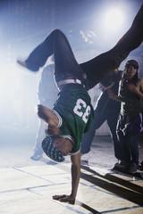 African man breakdancing