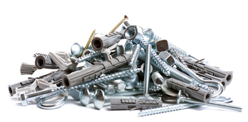 pile of nuts and bolts
