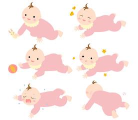 赤ちゃん乳児 はいはい2 ずり這い 女の子