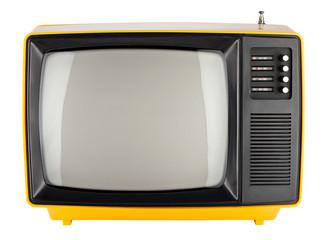 yellow retro tv