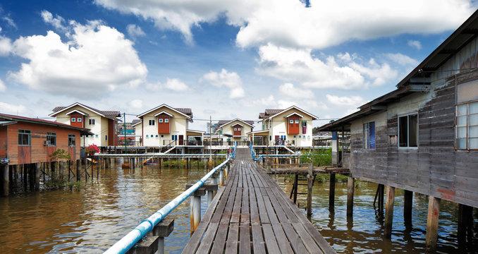 Brunei's famed water village