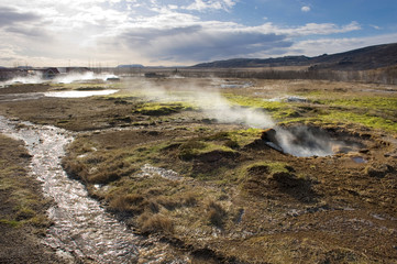 Geothermal hot water
