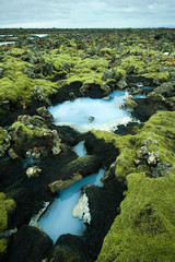 Wall Murals Arctic The Blue Lagoon in Iceland