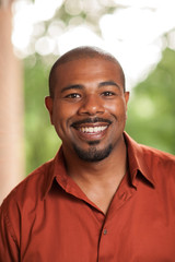 Happy smiling African American man portrait