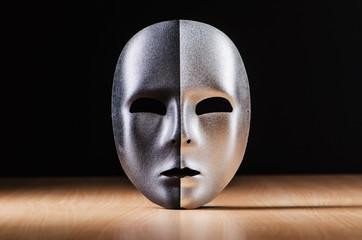 Mask against the dark background