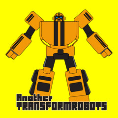 robotic cartoon character