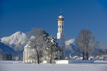 Wall Mural - Kirche St. Coloman in Bayern