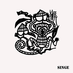 Zodiac chinois singe tatouage