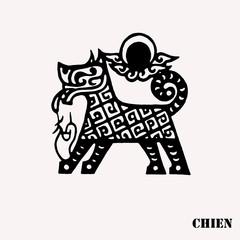 Zodiac chinois chien tatouage
