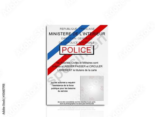 quotcarte police specimenquot photo libre de droits sur la