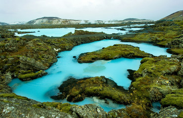 Papiers peints Pôle The Blue Lagoon in Iceland