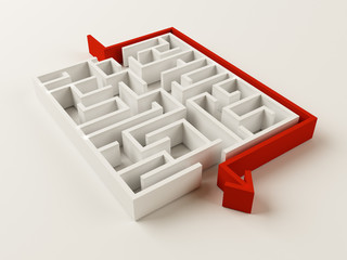 Fototapeta Solved Maze puzzle obraz
