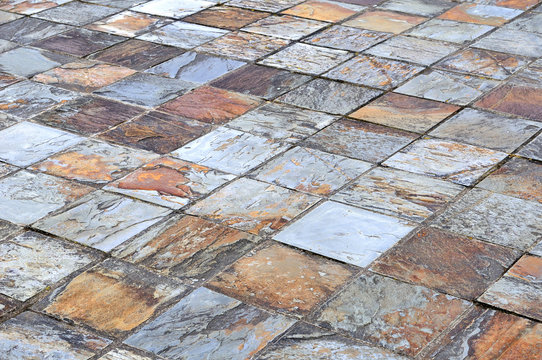Background texture outdoor slate floor colorful