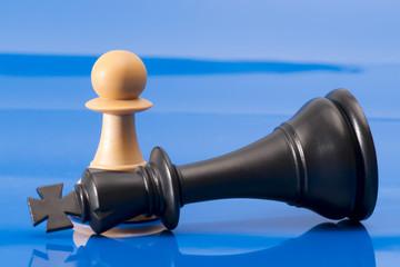 Chessmen on Blue
