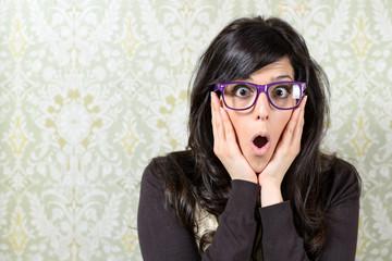 Afraid woman surprise