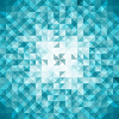 Blue Mosaic Vector Background | EPS10 Illustration