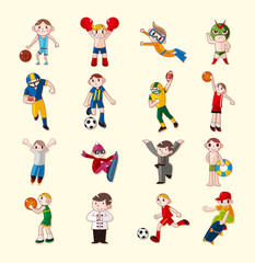 sport player icons set