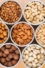Assorted nuts in Iron pot