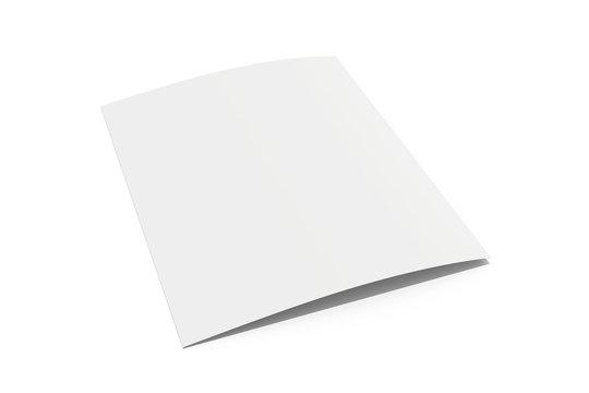 blank white sheet of paper folded