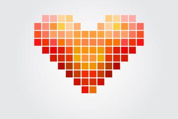 Fotobehang Pixel Heart Puzzle