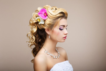 Harmony. Young Lady with Jewelry - Earrings & Necklace