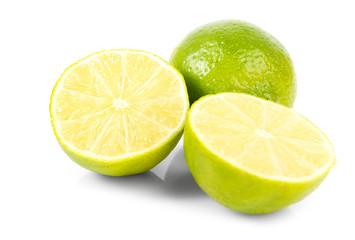 Fresh green limes.