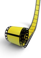 Blanko Filmrolle Gelb Schwarz 05