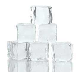 Ice isolated on white