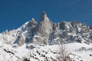 Cima Bonatti Vallée Blanche Inverno