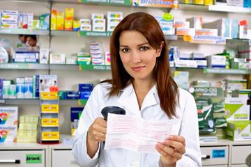 Happy pharmacist at work