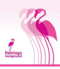 Flamingo background.