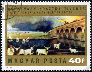 stamp shows Paintings by Csontvary Kosztka