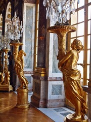 Sculptures at Versailles. Gold of Paris