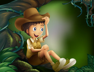 A young gentleman in the rainforest