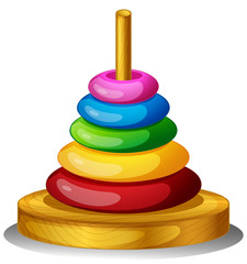 A colorful round toy