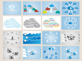 MEGA COLLECTION WEB CLOUD COMPUTING INFOGRAPHIC