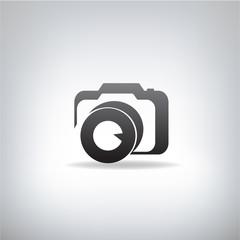 stylized photo camera