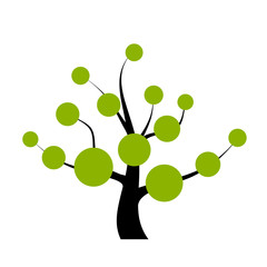 Vector tree with blank labels