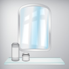 Mirror and cosmetics