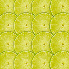Tuinposter Plakjes fruit Lime fruit slice background