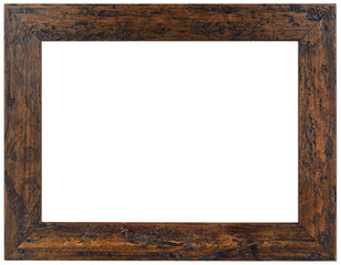 Old Brown Wooden Frame Cutout