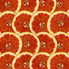 Tuinposter Plakjes fruit Abstract background with citrus-fruit of grapefruit slices
