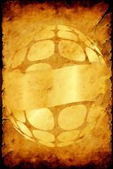 Aluminium Prints Vintage Poster Retroplakat - Goldener Partyflyer